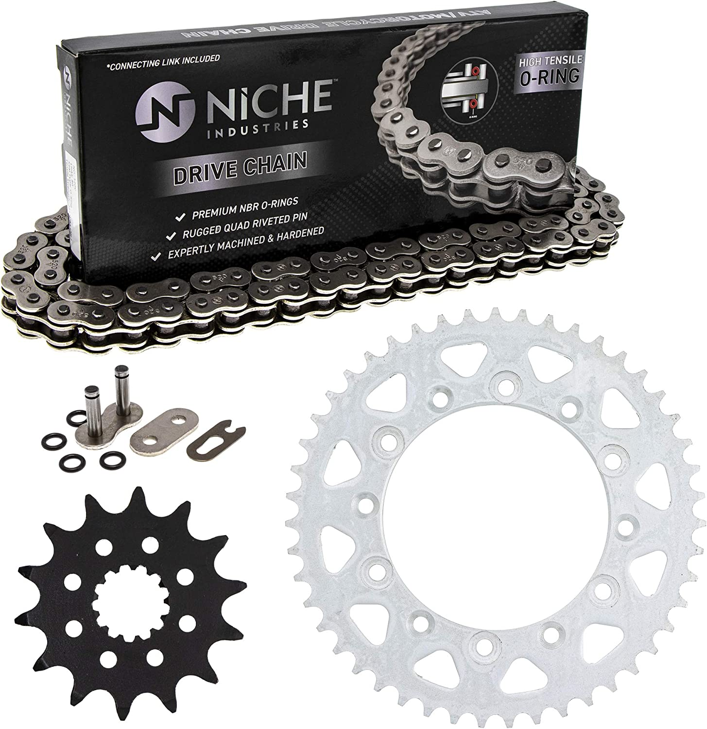 NICHE Drive Sprocket Chain Combo for Sales of SALE items from new works Rear WR450F Max 62% OFF Front 14 Yamaha