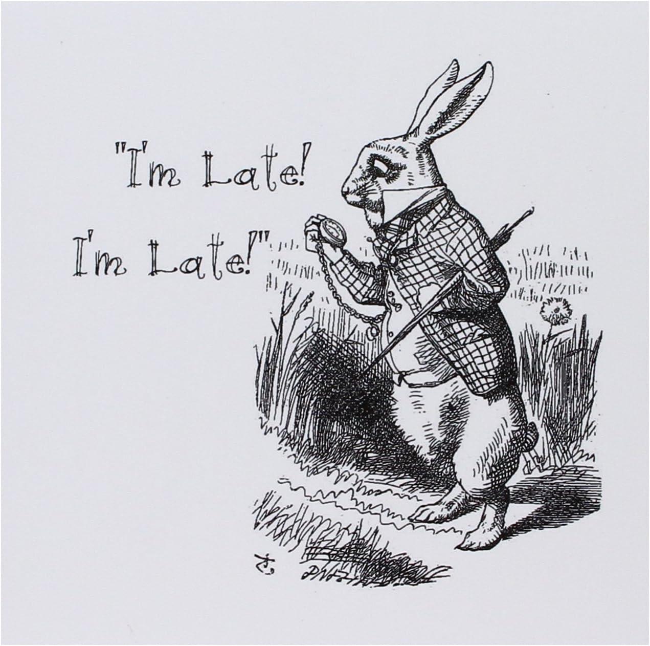 Amazon.com : 3dRose Alice in Wonderland White Rabbit Im Late - John Tenniel  Illustration, Greeting Cards, Set of 6 (gc_193791_1) : Office Products