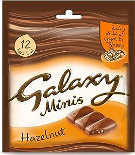 Galaxy Mini Chocolate Milk And Hazelnut - 12 Pieces, 150gm