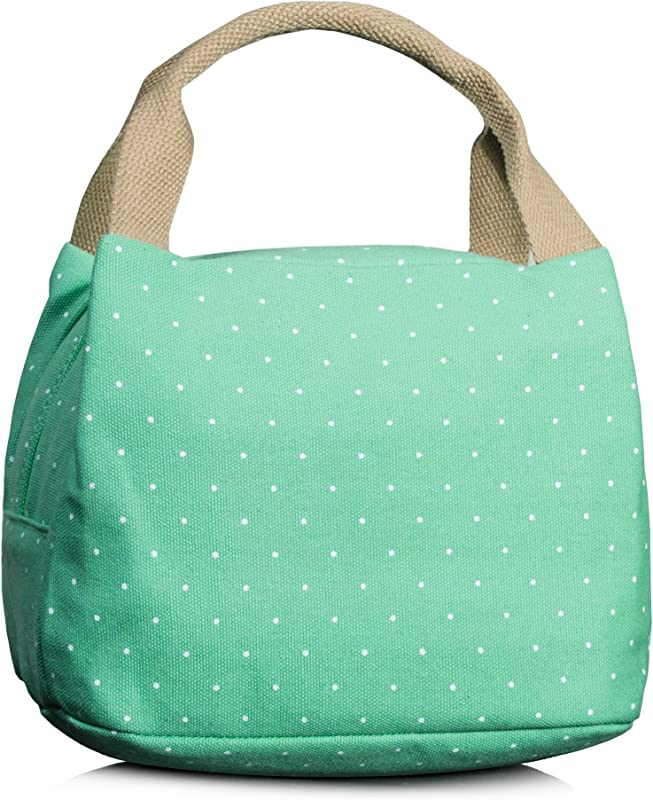 Leaper Insulated Lunch Box Lunch Bags Lunch Tote Bag Lunch Organizer Water Blue