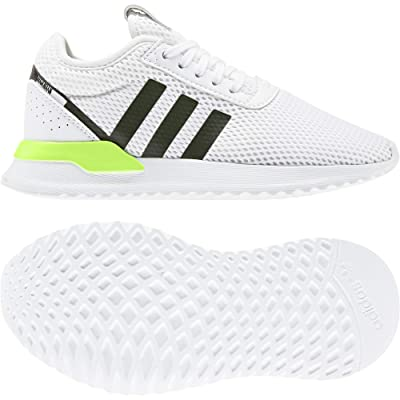 adidas Originals Kids U_Path X (Little Kid) (White/Black/Signal Green) Kids Shoes