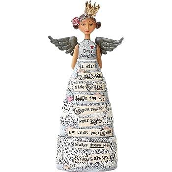 DEMDACO April Birthday Wish Clear Jeweled 4.5 inch Small Resin Angel Figurine Sculpture 1002720179