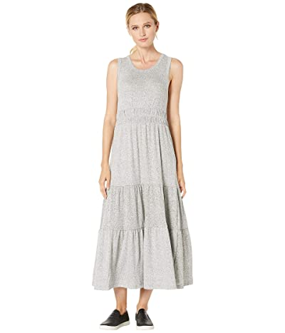 Lucky Brand Cloud Jersey Tiered Dress (Heather Grey) Women