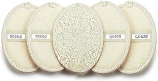 ETSAP Set Of 5 Natural Loofah For Women Bath Sponge Oval Loofah For Men and Women Loofah For Bathing Bath Sponge For Bathi...
