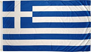 US Flag Store Super Knit Polyester Greece Flag, 3 by 5-Feet