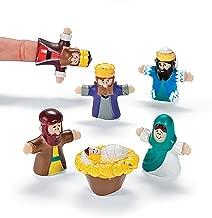 OTC 24 Vinyl Christ Nativity Finger Puppets Christmas Decor play toy