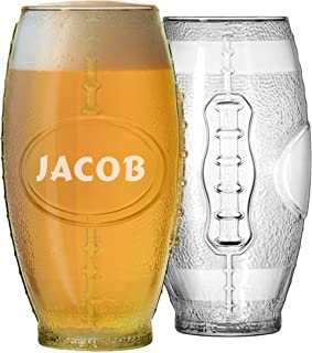 Football Tumbler Beer Glass - Personalized Engraved for Free - 23 oz