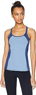 Splendid Women's Activewear Yoga Striped Tank with Shelf Bra