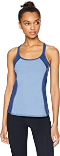 Splendid Women's Activewear Yoga Striped Tank with Shelf Bra,