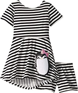 Penguin Play Skater Dress (Toddler/Little Kids)
