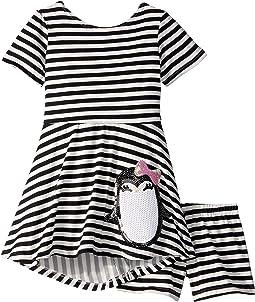 Penguin Play Skater Dress (Toddler/Little Kids)