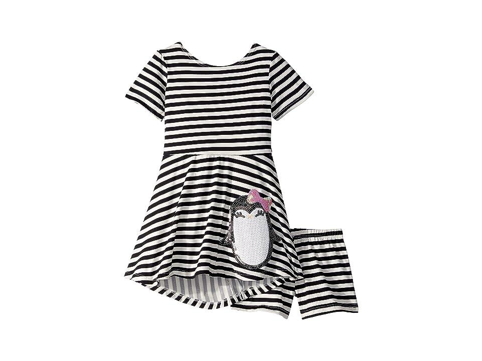 fiveloaves twofish Penguin Play Skater Dress (Toddler/Little Kids) (Black) Girl