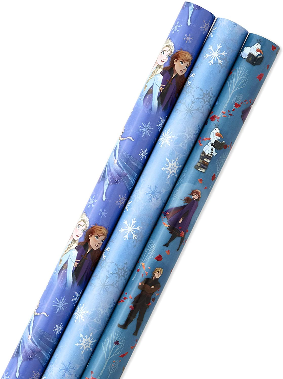 Hallmark Disney's Frozen 2 National products Wrapping Paper Pack Spring new work o with Lines Cut