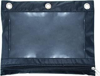 Advantus Zippered Binder Pencil Pouch with Rivet Enforced Holes, Black (67024)