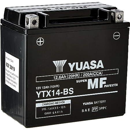 Batterie Yuasa Ytx14h Bs Wc Agm Geschlossen 12v 12ah Cca 240a 150x87x145mm Auto