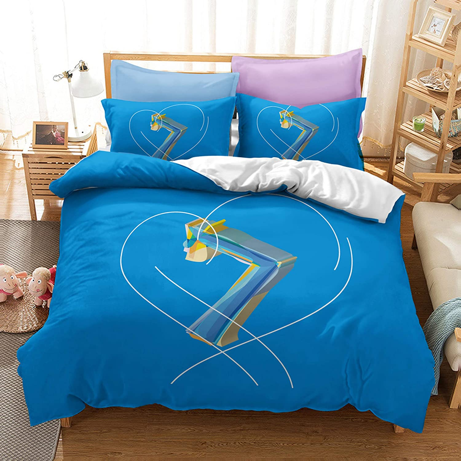 Ntioyg BTS Bedding At the price Set Superior Full 3 Kpop Duvet Pil Cover Piece and