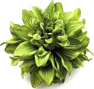 4.5 Olive Dahlia Silk Flower Brooch Pin