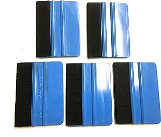 Blue Felt Vinyl Application Squeegee - 5 Pack