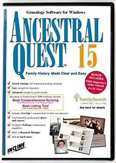Ancestral Quest 15 (Windows) Family Tree and Genealogy Software