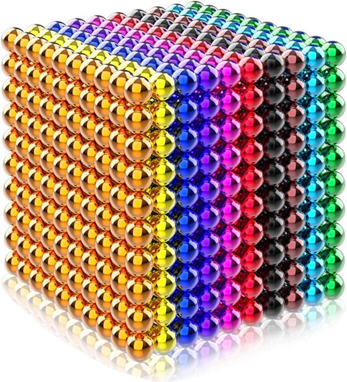 DIGUA 8 Farbe 216 st/ücke 5mm magnetische Kugel Puzzle squeze Druck reliefwerkzeug Kinder p/ädagogische geb/äude Spielzeug