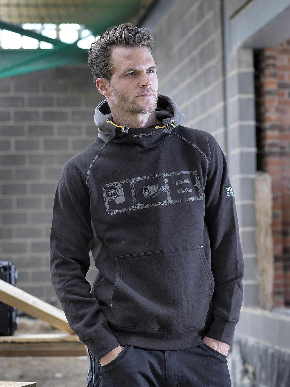 Horton Hoodie Noir//Gris XL JCB Sweatshirt /à capuche pour Homme