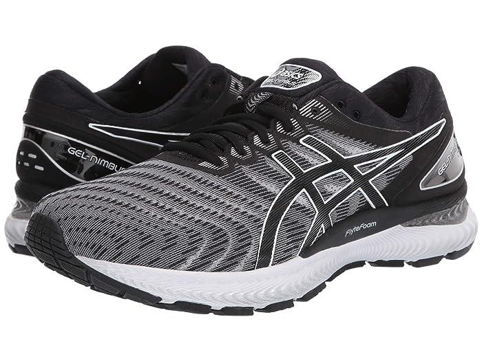 ASICS  GEL-Nimbus 22 (White/Black) Mens Running Shoes