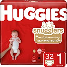 Huggies Little Snugglers Baby Diapers, Size 1 (Up to 14 lb.), Jumbo Pack, 32 Count (Packaging May Vary)