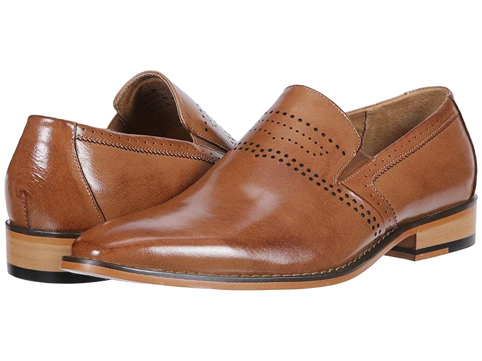 Stacy Adams Saunders Plain Toe Loafer (Tan) Men