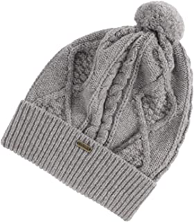 Barbour Sub Women's Wool Bobble Cable Knit Beanie, Grey, One Size