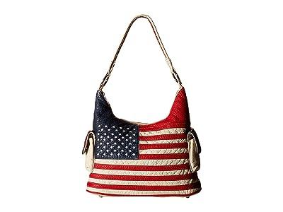 M&F Western Americana Bucket Bag (Multi) Bags