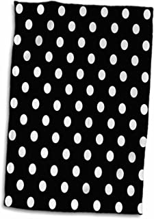 3D Rose Black and White Polka Dot Print TWL_20402_1 Towel, 15