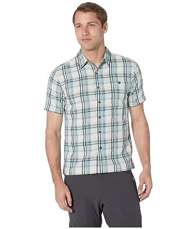 Royal Robbins Mojave Dobby Plaid Short Sleeve Shirt (Creme) Men