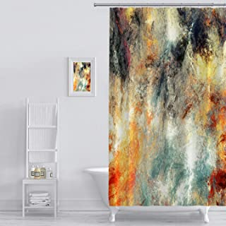 Shower Curtain Bright Artistic Splashes Abstract Painting Color Texture Modern Futuristic Pattern Multicolor Art Print Polyester