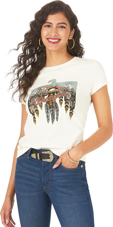 Wrangler Women's Short Sleeve Fitted Graphic T-Shirt