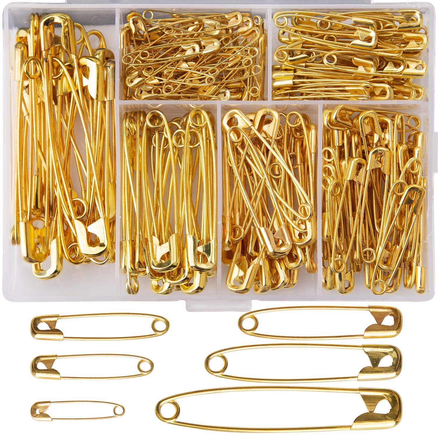 100 Small Tiny Gold Metal Steel Mini Safety Pins 2cm 23mm