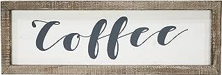 "Barnyard Designs Coffee Frame Sign Rustic Primitive Farmhouse Decorative Wood Wall Decor Kitchen, Bar, Cafe 23.5"" x 8"""