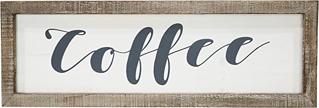"Barnyard Designs Coffee Frame Sign Rustic Primitive Farmhouse Decorative Wood Wall Decor Kitchen, Bar, Cafe 23.5"" x 8"""