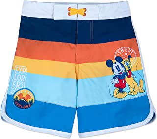 Disney Mickey Mouse and Pluto Swim Trunks for Kids Multi