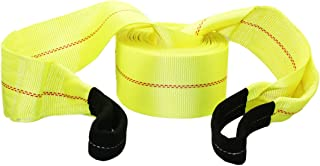 """ABN Tow Winch Rope with Loops - Offroad Vehicle Recovery Strap - 30' Feet x 4"""" Inch - 20,000 lbs Pound Towing Capacity"""