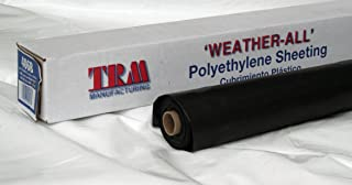 TRM Manufacturing 606B Weatherall 6 Mil Poly Plastic Sheeting Visqueen, 6` Wide 100` Long, 1 Roll in a Box, Black