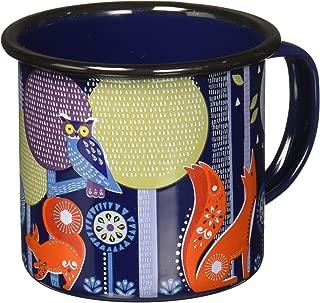 Folklore FOL034 Night Design Enamel Camping Coffee Mug, 13.5 oz