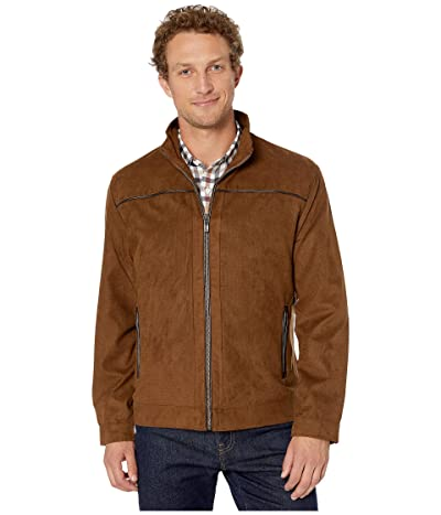 Johnston & Murphy Perforated Faux Suede Jacket (Brown) Men