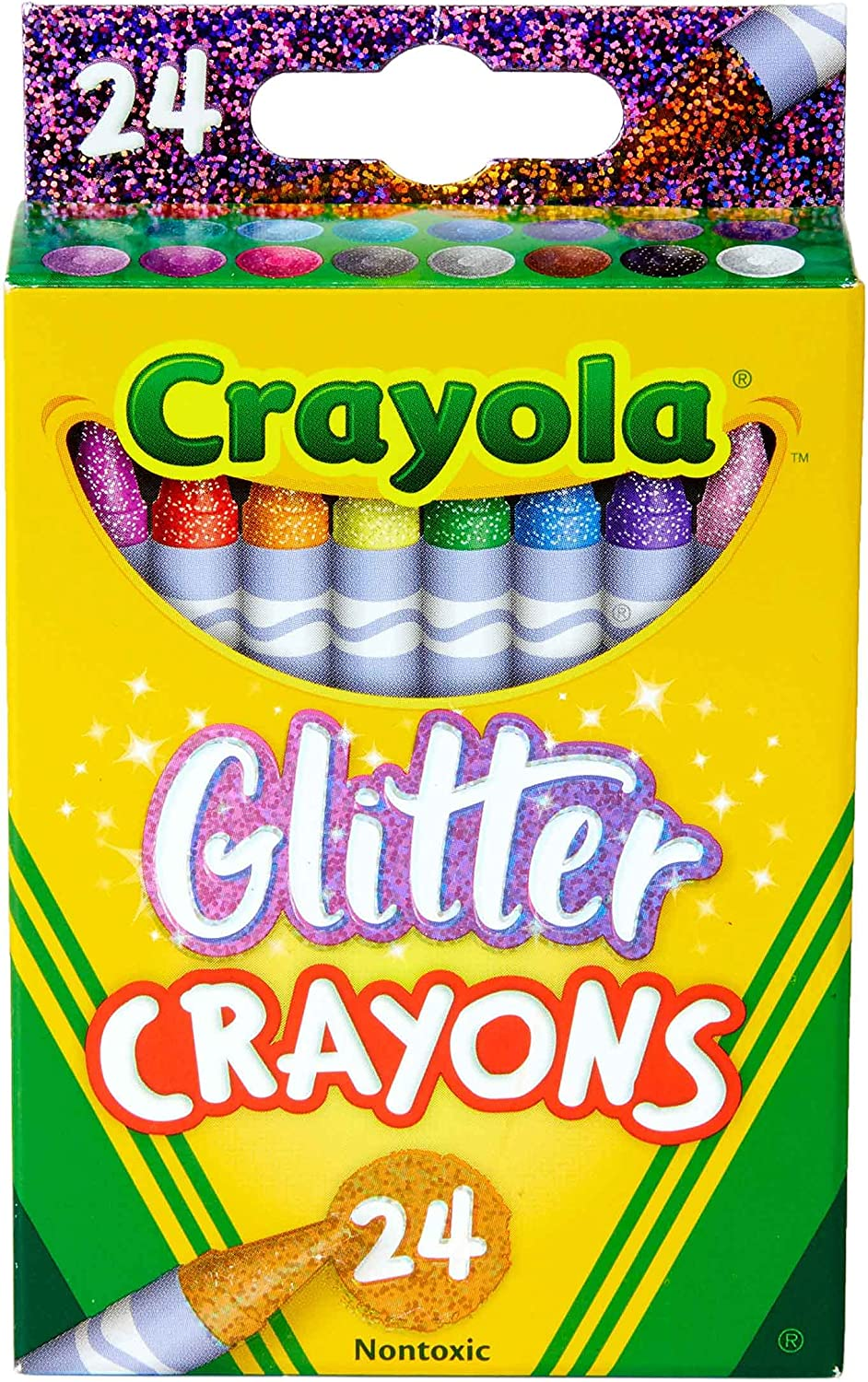 Crayola Glitter Crayons, Back To School Supplies, 24Count, Multi