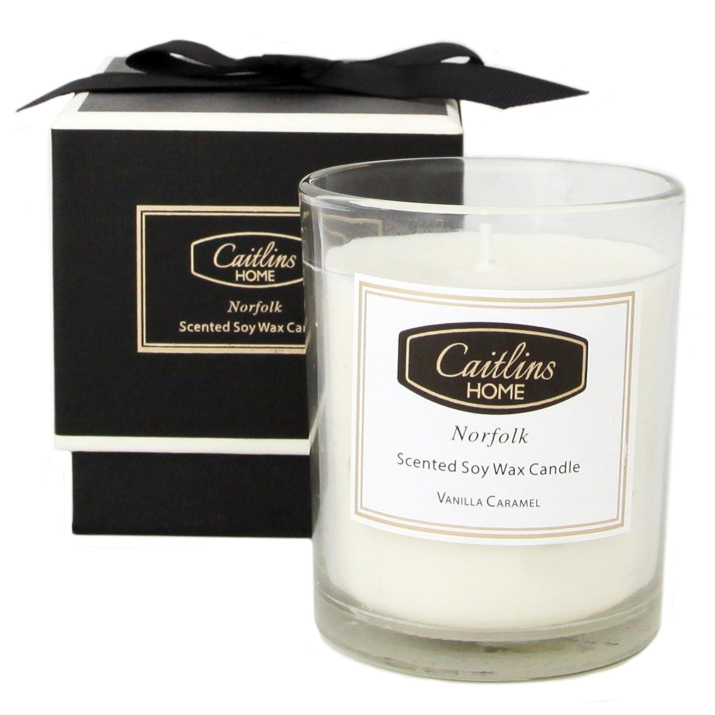 動音声学居眠りする(Small, Vanilla Caramel) - Vanilla Caramel Candle Soy Wax Aromatherapy Candle Home Fragrance Gift Caitlins Home