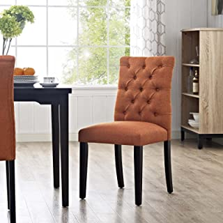 Modway MO-EEI-2231-ORA Duchess Modern Tufted Button Upholstered Fabric Parsons, Dining Chair, Orange