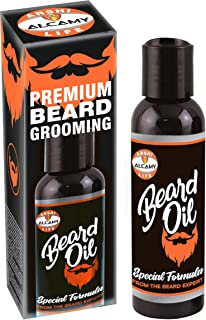 Alcamy Premium Beard Growth Oil for Men   100% Natural & Safe   (beard oil) Made with Special Formula from Beard Experts   Beard Growth Oil for Men   120ml