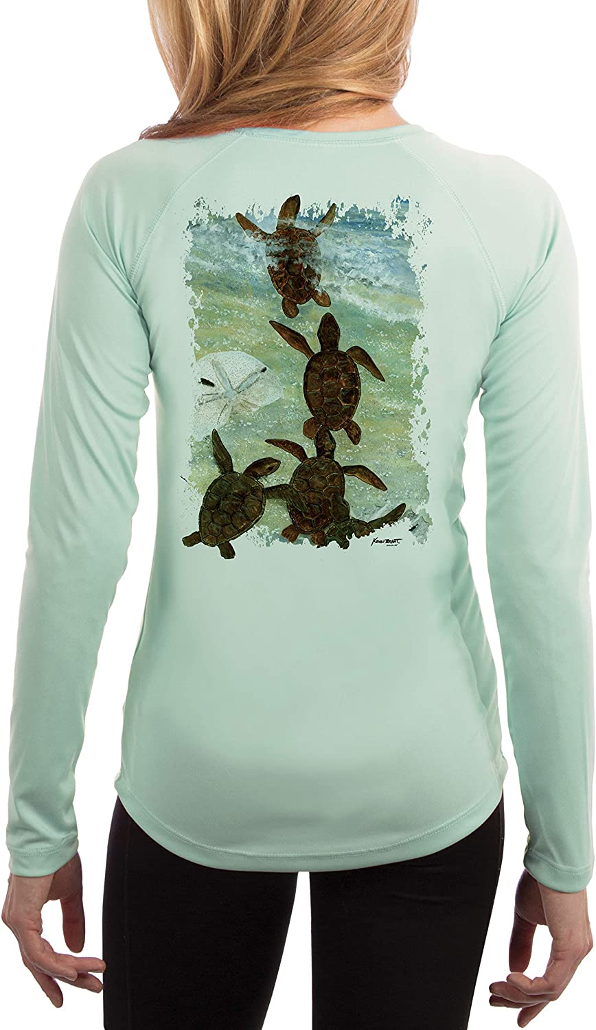 KEVIN BRANT COLLECTION Turtle Indianapolis Mall Women's UPF Rapid rise Sleeve Long 50+ T-Shir