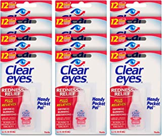 Sponsored Ad - Clear Eyes Eye Drops, Redness Relief, Handy Pocket Pal 0.2 Fl Oz (Pack of 12)