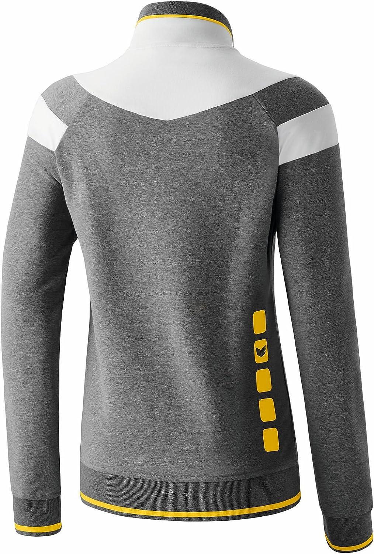 Erima Damen Jacke 5-C Fashion Grau Melange/Weiß/Gelb