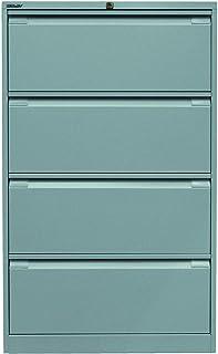 Bisley Armoire à dossiers Suspendus Double rangée DIN A4 4 tiroirs HR 355 Argent 62.2 x 80 x 132.1 cm